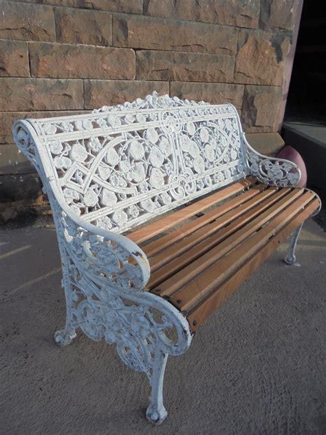 cast iron bench seat victorian cast iron garden bench seat 454038
