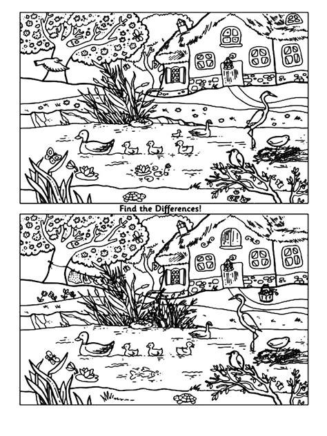 coloring pages spot the spot the difference coloring pages and print