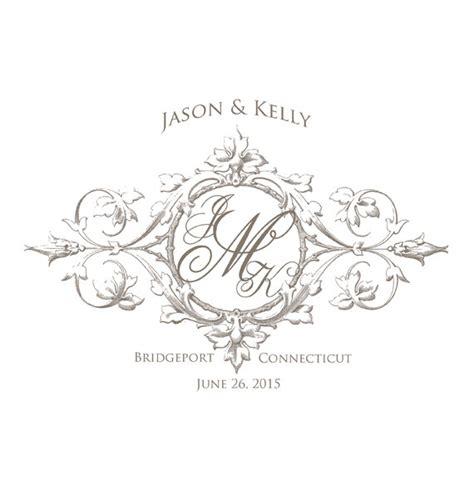 Wedding Ceremony Logo by Wedding Monogram Crest Custom Created In Your Wedding