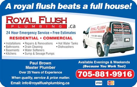 A Royal Flush Plumbing by Royal Flush Plumbing Barrie On 43 Mcveigh Dr Canpages