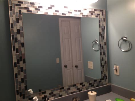 Mirror Tiles For Bathroom Best 25 Tile Around Mirror Ideas On Pinterest Tub Insert No Sanding And Mirrors To Stick On