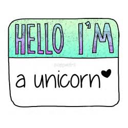Wall Stickers Name quot hello i m a unicorn quot by poppetini redbubble