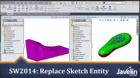 solidworks tutorial nederlands 2014 solidworks 2014 tutorial replace sketch entity youtube