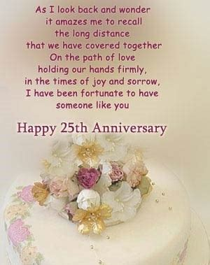 25th Wedding Anniversary Quotes To by 25th Wedding Anniversary Christian Quotes Quotesgram