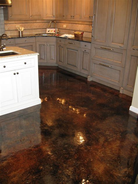 Stained Concrete Floors Cost Vs Hardwood   Gallery of Wood
