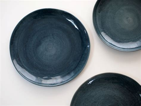 steinzeug geschirr steinzeug geschirr blau steinzeug teller blau keramik teller