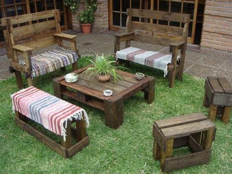 Pallet Garden Furniture Ideas Shipping Pallet Outdoor Furniture Ideas Pallet Wood Projects