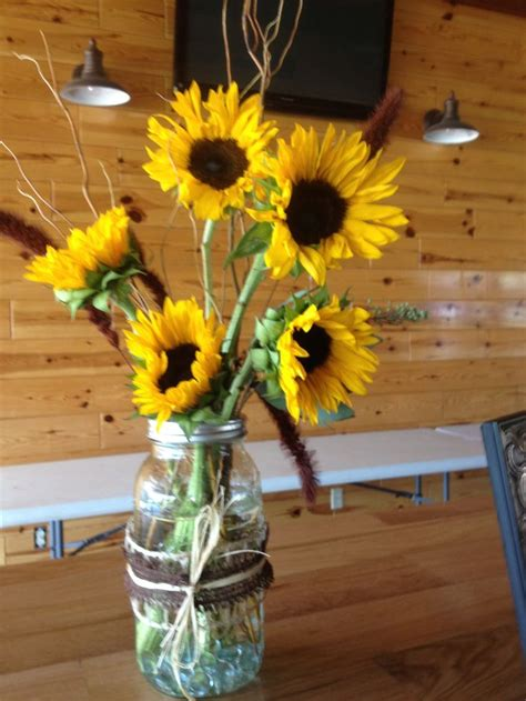 sunflower arrangements ideas sunflower centerpiece wedding ideas pinterest