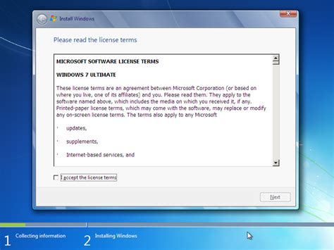 tutorial instal windows 7 ultimate 32 bit windows 7 ultimate edition installation screenshots x86