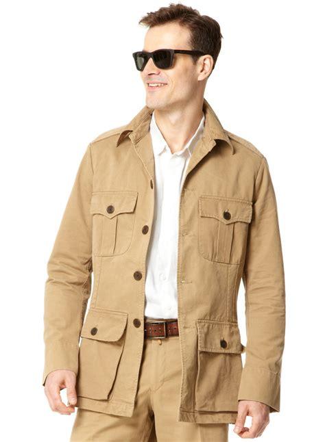 mens cotton safari jacket khaki s style