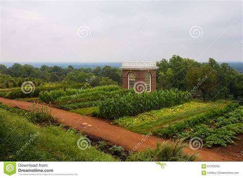 thomas jefferson farm at monticello stock photo image