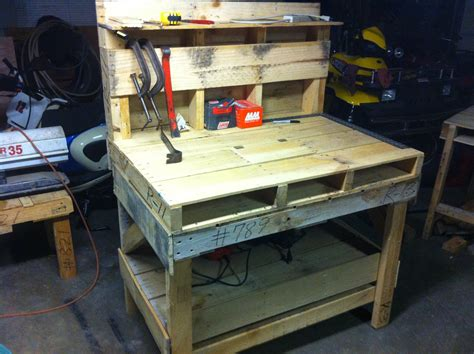 bench work pallet bench how to from youtube i could see using this