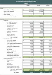 monthly household budget microsoft excel template ms