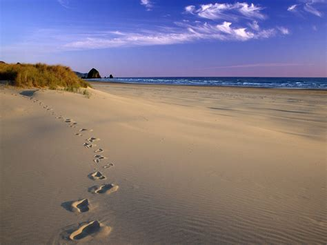 footprints in the sand wallpapers and images wallpapers