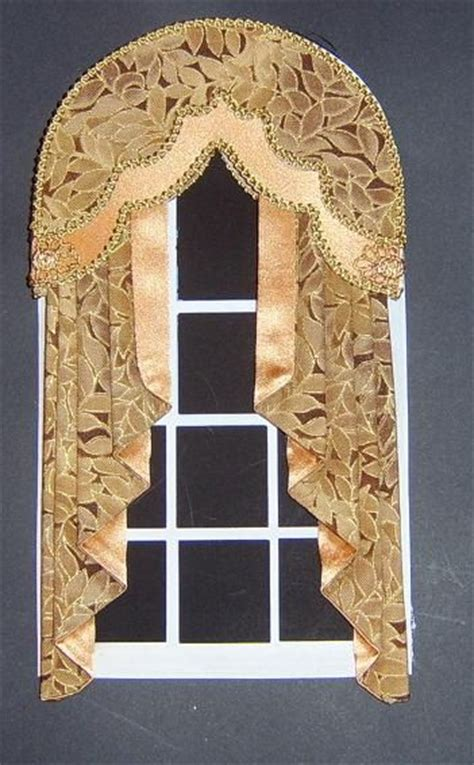 dolls house window dolls house arched window curtains by jjwallpapers on etsy 163 22 50 dollhouse decorating pinterest