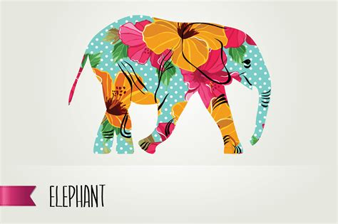colorful elephant wallpaper colorful elephant illustrations on creative market