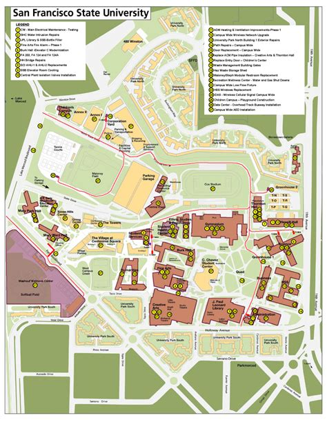 sfsu map current projects capital planning design construction
