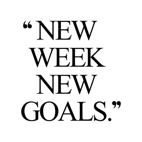 week  goals exercise  fitness motivation