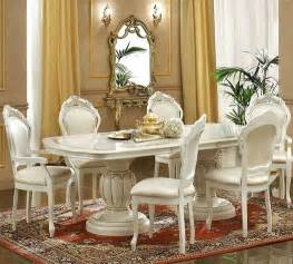 Italian Style Dining Table And Chairs Ivory Italian Classic Dining Set