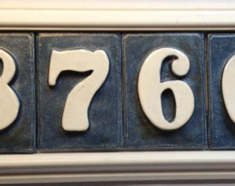 tile house numbers ceramic house number etsy