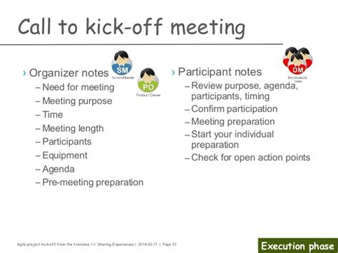 project kickoff meeting presentation template agile project kick from the trenches
