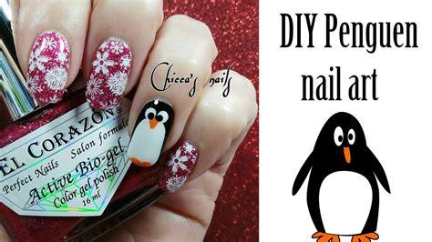 20 mini nail art tutorials youtube diy penguen nail art free hand nail art tutorial youtube