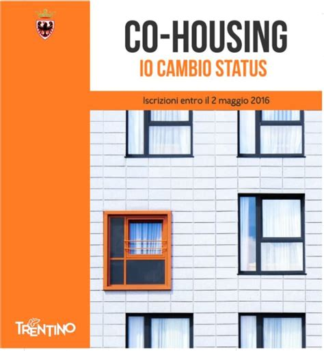 Housing Status by Co Housing Io Cambio Status Aperte Le Iscrizioni