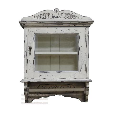 white distressed medicine cabinet shabby chic