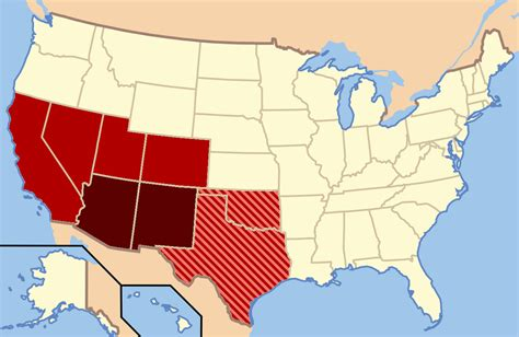 map us southwest southwestern united states wikiwand