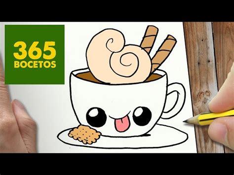 imágenes kawaii fáciles de hacer video como dibujar cafe kawaii paso a paso dibujos