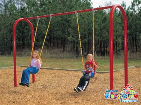 swing set 3 commercial swing set 3 5 quot posts arch swingset