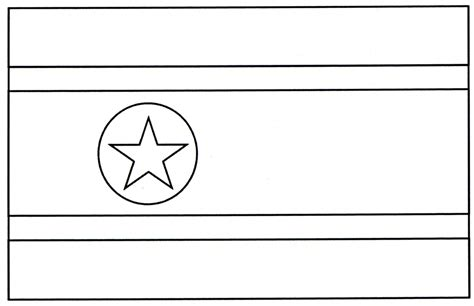 free coloring pages of flag of korea north