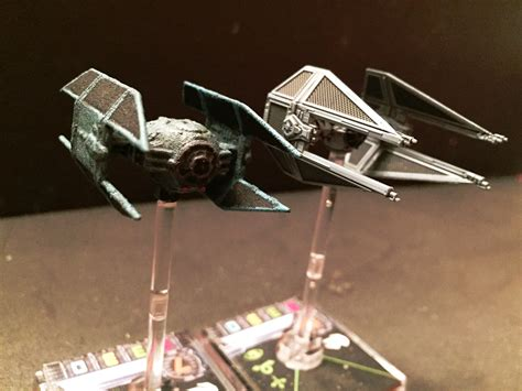 Painting X Wing Miniatures by Painting A Custom Tie Avenger Mini For X Wing