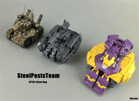 Figure Transformers Transformers Wei Jiang Slug Dino steelpeststeam spt 01 steel bug