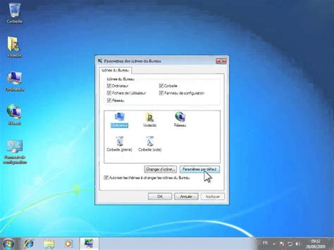 windows7 bureau afficher les icones du bureau