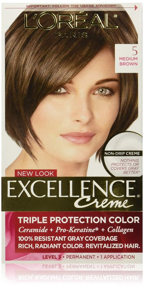 l oreal excellence creme hair colors medium and haircolor l oreal excellence creme hair color 4 brown chemical hair dyes