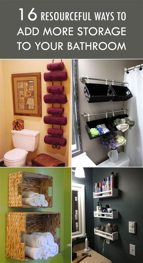 how to add a bathroom 16 resourceful ways to add more storage to your bathroom