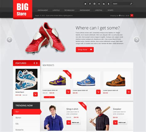 design free ecommerce website 25 free beautiful ecommerce psd template ninodezign com