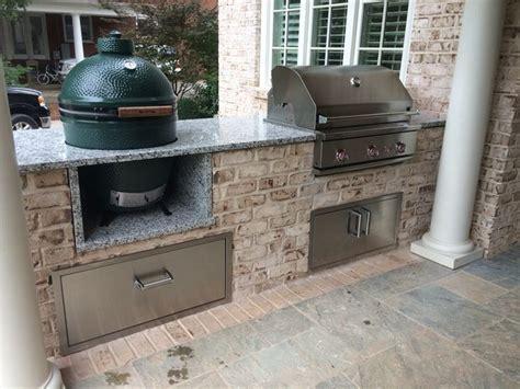 best 25 big green egg outdoor kitchen ideas on