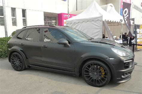 porsche cayenne matte black porsche cayenne hamann guardian is matte black in china
