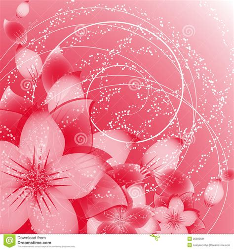 flower background  red stock vector image  design