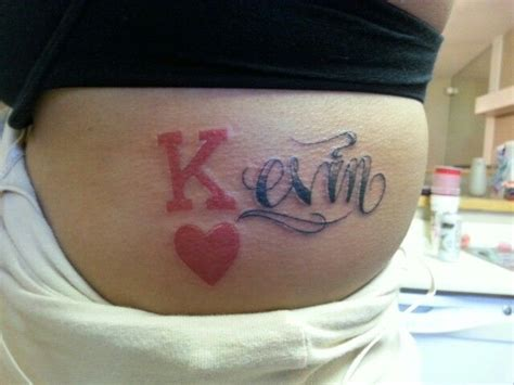 king of hearts kevin name ribs tattoos done by peezy