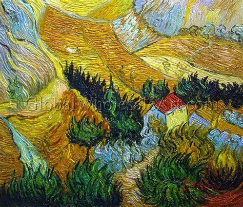 oil paintings global wholesale art vincent van gogh landscape with house and ploughman