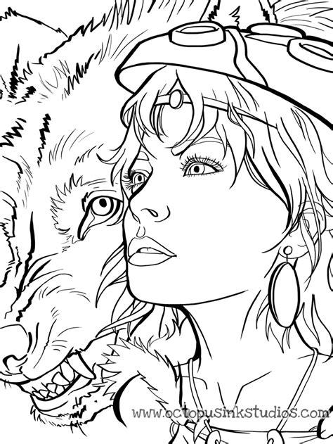 princess mononoke coloring pages princess mononoke mask coloring page coloring pages