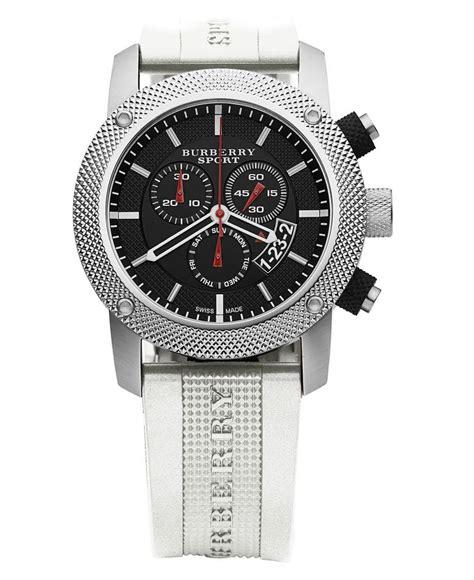 burberry timepiece s swiss white rubber bu7707