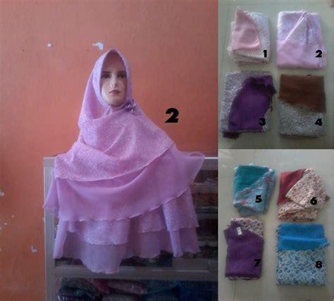 Jilbab Instan Dua Warna jual khimar jilbab bergo syar i instan 2 warna bisa bolak balik bahan sifon qisya
