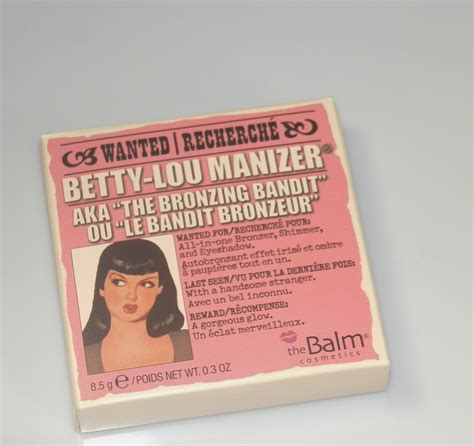 The Balm Lou Lou Betty Lou the balm betty lou manizer swatches
