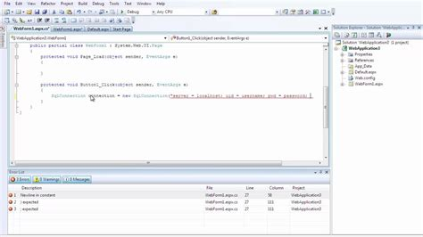 tutorial asp net using c c sharp c asp net tutorial 2 inserting data into a sql