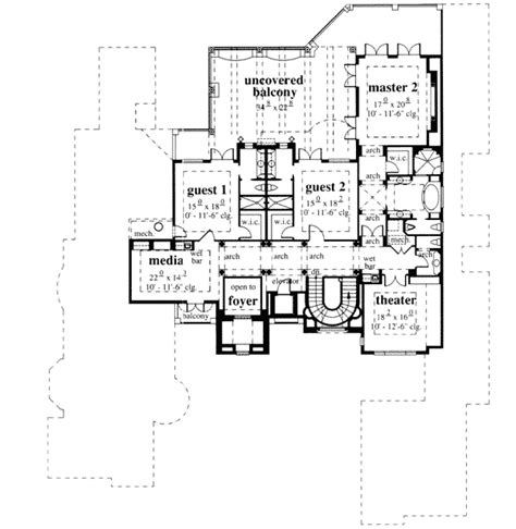 florida custom home plans french chateau floor plan from abg alpha builders group