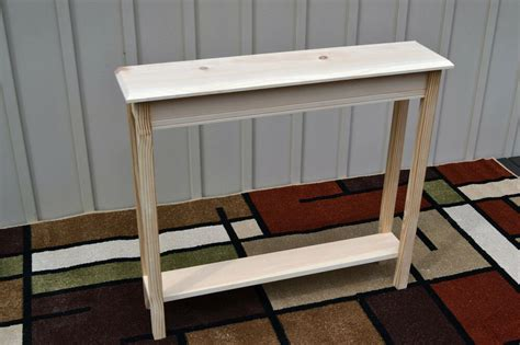narrow sofa console table unfinished 36 quot narrow console sofa foyer beveled edge pine table w shelf ebay